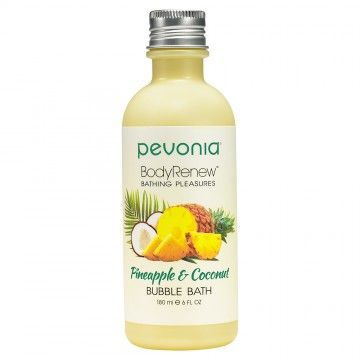 PEVONIA BODY RENEW BUBBLE BATH PINEAPPLE AND COCONUT 180ML
