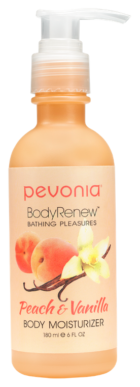 PEVONIA BODY RENEW BODY MOISTURISER - PEACH AND VANILLA 180ML