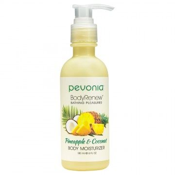 PEVONIA BODY RENEW BODY MOISTURISER PINEAPPLE AND COCONUT 180ML