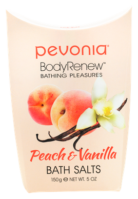 PEVONIA BODY RENEW BATH SALTS - PEACH AND VANILLA 150GR
