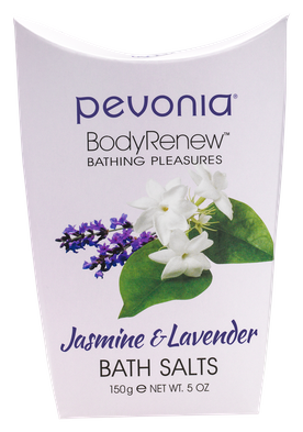 PEVONIA BODY RENEW BATH SALTS - JASMINE AND LAVENDER 150GR