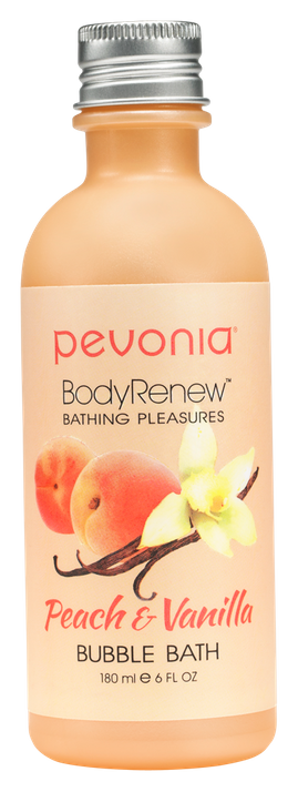 PEVONIA BODY RENEW BUBBLE BATH - PEACH AND VANILLA 180ML