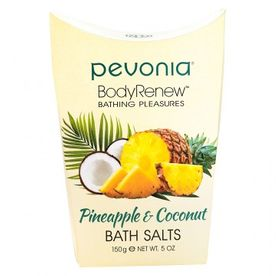 PEVONIA BODY RENEW BATH SALTS- PINEAPPLE AND COCONUT 150GR