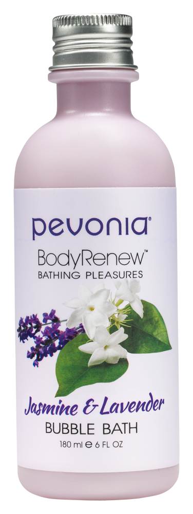 PEVONIA BODY RENEW BUBBLE BATH - JASMINE AND LAVENDER 180ML