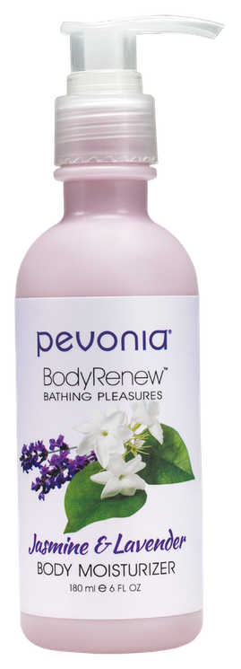 PEVONIA BODY RENEW BODY MOISTURISER-JASMINE AND LAVENDER 180ML